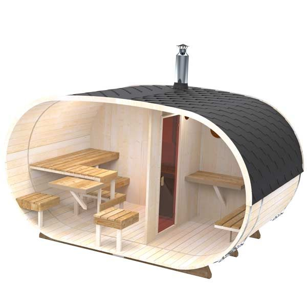 Big-Oval-Outdoor-Sauna-for-4-persons-2