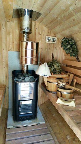 pic outdoor sauna inside