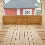 5m Outdoor Sauna for 6 persons with seats or bed_inside_bed