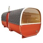 5m Outdoor Sauna for 6 persons with seats or bed_side view-1