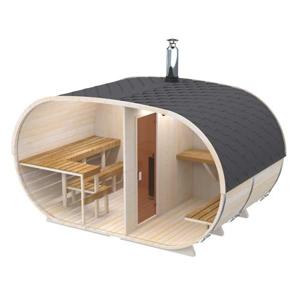 Big-Oval-Outdoor-Sauna-for-6-persons
