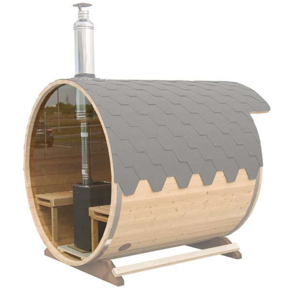 Round Panoramic Window for Barrel Sauna