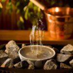 Barrel sauna fountain_2