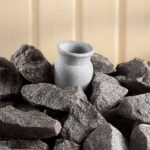 Soapstone fragrance jar for barrel sauna stove_2